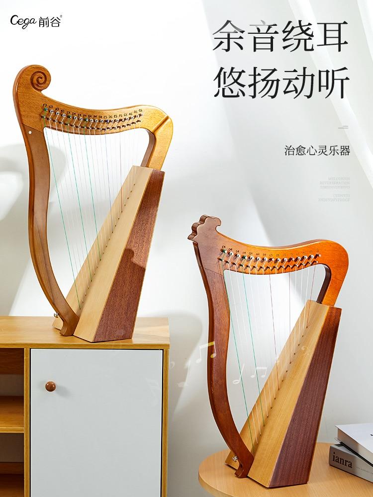 Big Instrument Harp 19 Strings Lyre Wooden Colour Harp Music Accessories Beginner Strumenti Musicali Musical Instruments EI50HP enlarge
