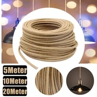 2 cord 0 75mm vintage hemp rope light cord braided flexible cable electrical wire for retro pendant lights rope 5m 10m 20m d4