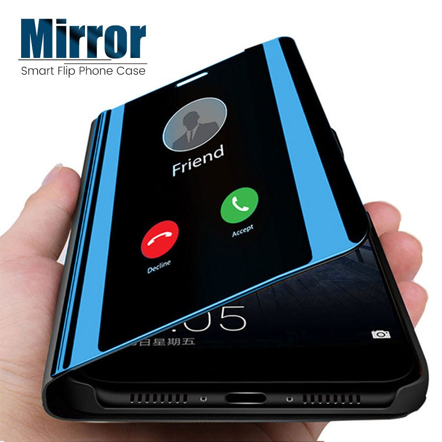 Smart Mirror Flip Case For Huawei P40 P30 P20 Pro Nova 5T 7i 3 3i Honor 20 Pro 10 Lite 8X Play View 20 Mate 20 X 10 P Smart Plus
