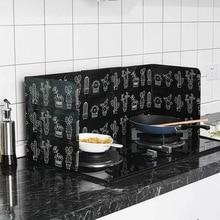 Cocina plegable de aluminio cocina placa deflectora cocina sartén aceite protección contra salpicaduras pantalla accesorios de cocina