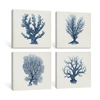 nursery wall art botanical canvas painting white blue coral posters for nordic bedroom living room tropical home decor pictures