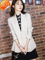 double 26 silk coat one button double layer silk suit womens black and white