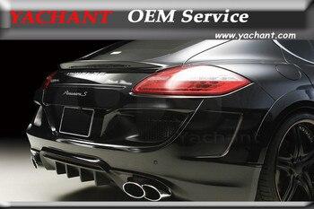 Carbon Fiber Rear Spoiler Wing Fit For 2010-2013 Porsche Panamera 970.1 WA Sports Line Black Bison Edition Style Trunk Spoiler