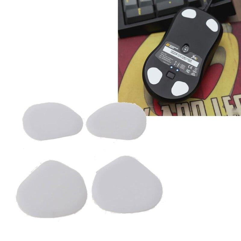 1 set/pacote reforçada tiger gaming mouse patins pés para final engrenagem xm1 mouse branco desliza curva borda reforçada c26