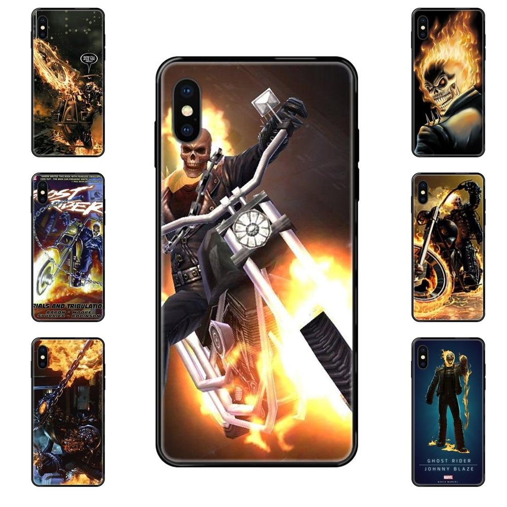 Ghost Rider Feuer Auto Schwarz Weiche TPU Screen Protector Mitteilungen Für Huawei Honor Mate Spielen V10 Ansicht 10 20 20X 30 Lite Pro Y3 Y5
