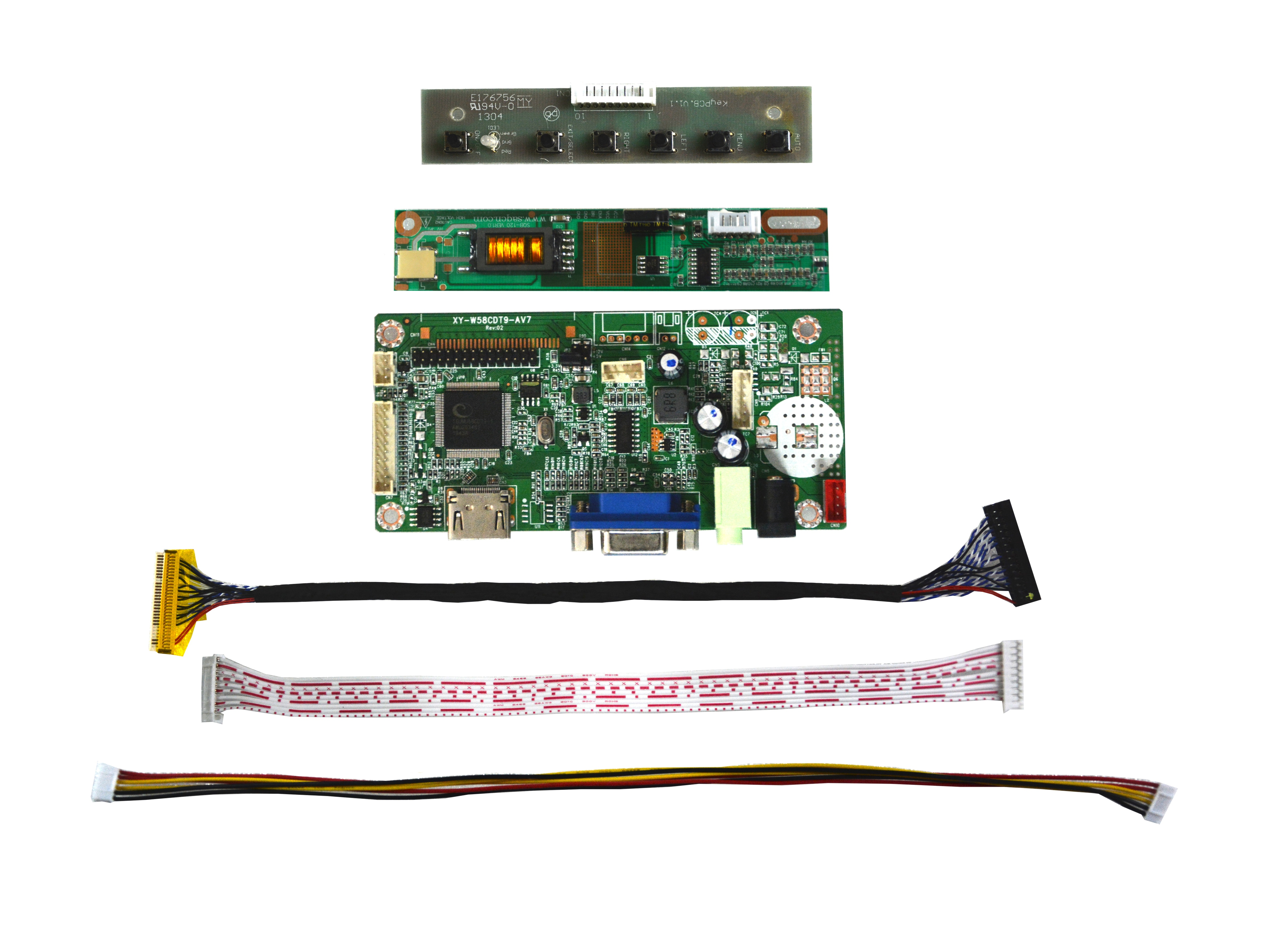 Free Shipping 58C HDMI VGA LVDS LCD Controller Board Kit For 17inch B170PW01B170PW06 V.2 1440x900 LED Screen