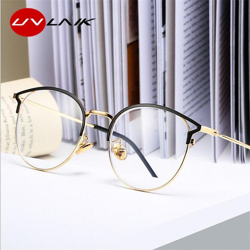 UVLAIK-lunettes Anti lumière bleue, monture œil de chat, pour femmes, ordinateur, lunettes de Protection, monture pour la myopie, lunettes doptique