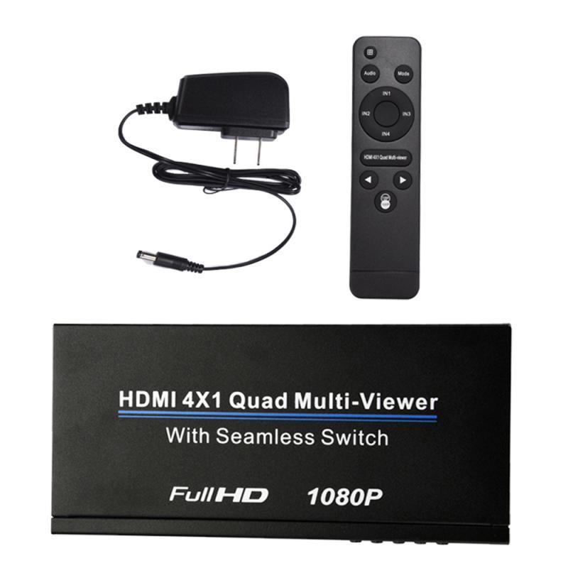 2020 Новый HDMI 4x1 переключатель Quad Multi Viewer сплиттер Ультра с бесшовным переключателем HD видео 1080P для PS3/PC/STB/DVD