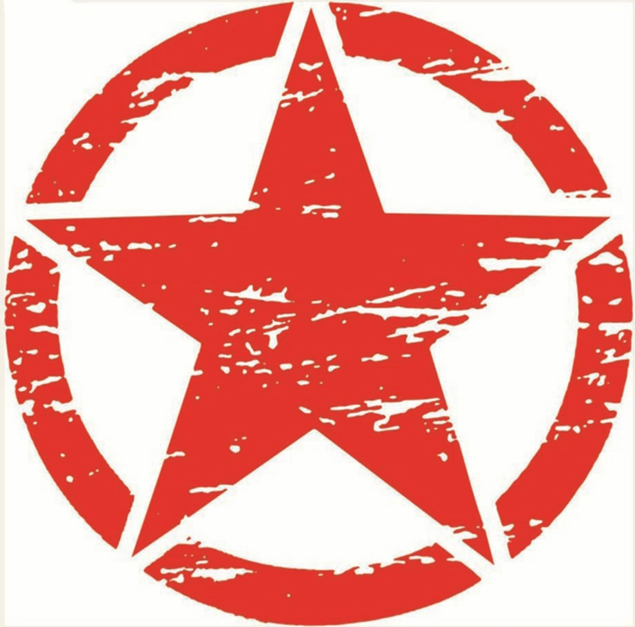 Купить с кэшбэком 15cmx15cm Creative five-pointed star Vinyl Car stickers Decals Motorcycle Accessories Car-Window Decorative Goods PVC
