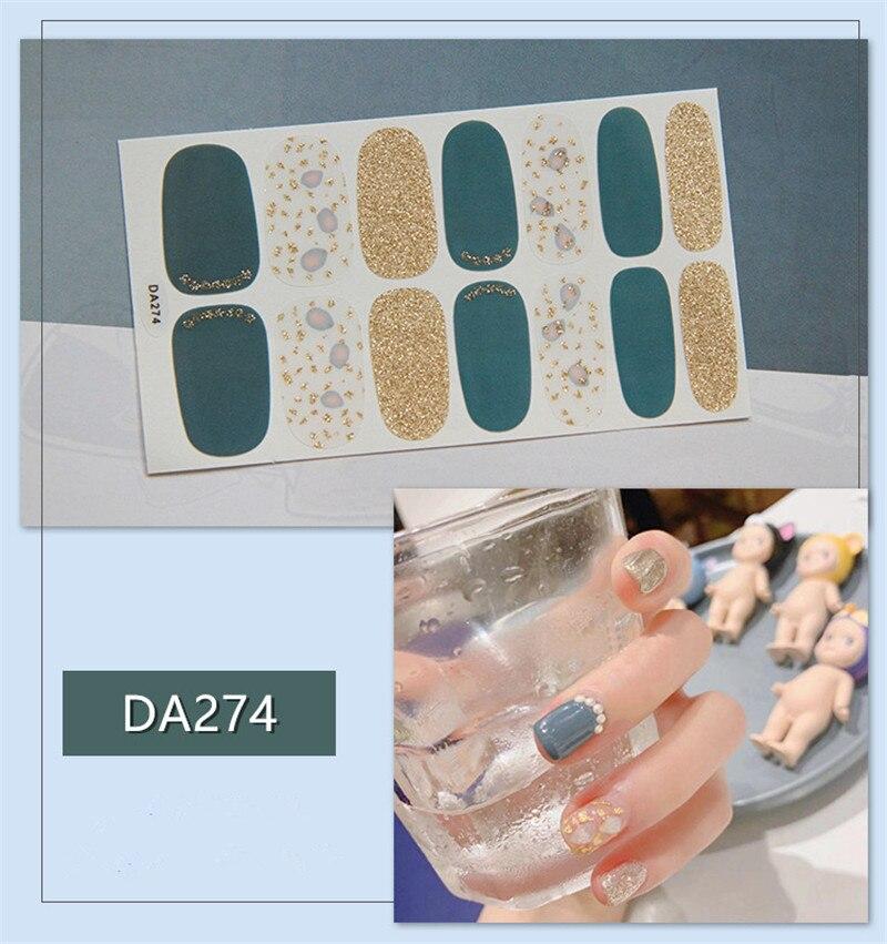 Envoltura de uñas DIY de Color puro, cobertura completa, arte de pegatina para uñas, decoraciones para manicura, esmalte de uñas adhesivo, Color sólido, regalo de San Valentín