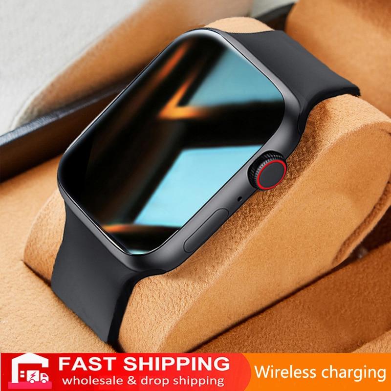 2021 Smart Watch Men Women Split Screen IWO Original Smartwatch Body Temperature Monitor Dial Call For Android IOS IWO  PK HW22