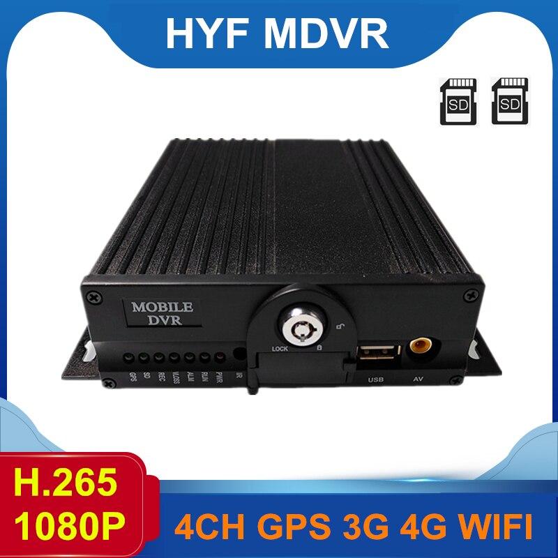 4CH mdvr sistema Linux H.265 formato mdvr con rastreador GPS 3G/4G/WiFi (opcional) grabadora de video de transmisión de datos