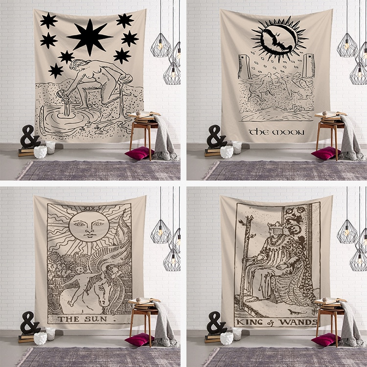 Nordic ins hanging cloth art wall tapestry tapestry home decoration mural Tarot