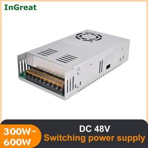 300W/ 600W 48V Switching Power Supply AC 220V-264V DC 48V 12.5A/6.5A with Cooling Fan for Stepper Servo Motor CNC Router