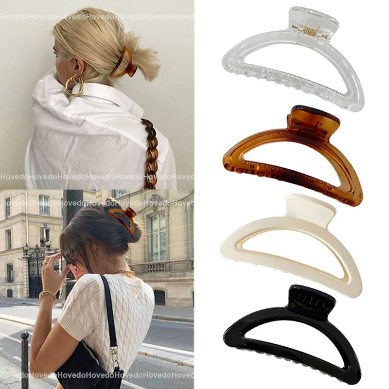 Simple Style Hair Clips Women Girls Claw Clip Hair Claws Hair Clamps Claw Clips Hairpins Barrette Cr