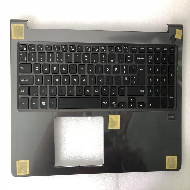 حافظة كمبيوتر محمول جديدة لأجهزة الكمبيوتر المحمولة DELL Vostro الإنجاز 15-5000 V5568 5568 حافظة كمبيوتر محمول C مع لوحة مفاتيح مع إضاءة خلفية
