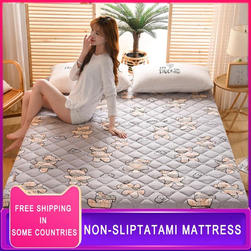 Фото - Матрас-татами на подкладке, стеганый напольный футоновый матрас, мягкий толстый складной матрас, удобная портативная Гостевая кровать для ... матрас
