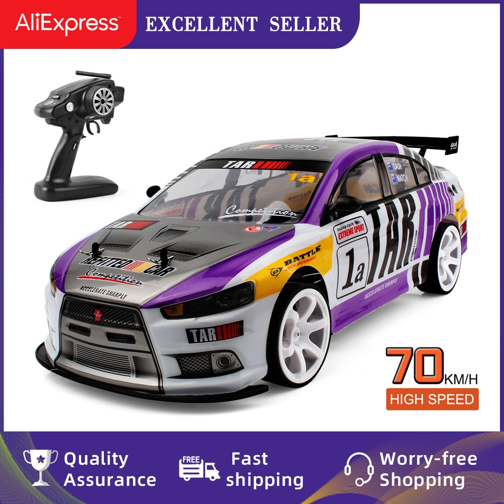 70KM/H High Speed RC Drifting Cars One-click Acceleration 1/10 4WD Remote Control Racing Cars Big Of