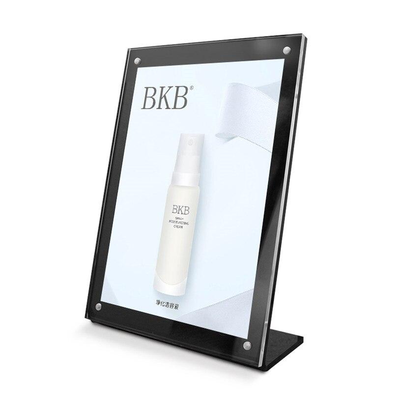 A6 (150*100 мм) черный магнитный L-образный держатель для карт, акриловый рекламный плакат, подставка для картины