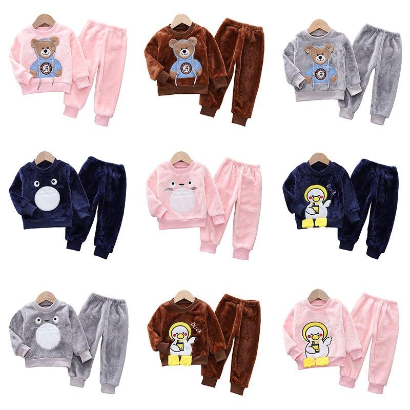 Комплекты детской одежды, детская одежда для сна, комплекты из топа и брюк для девочек, пижамные костюмы, одежда для сна для мальчиков, детск...