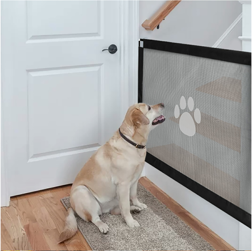 AliExpress - Dog Gate Ingenious Mesh Dog Fence For Indoor and Outdoor Safe Pet Dog gate Safety Enclosure Pet supplies Dropshipping