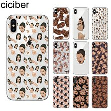 Coque de téléphone ciciber Kimoji Kim Kardashian pour iPhone 7 8 6 6S Plus 5 5S SE X XR XS Max souple pour iPhone 11 Pro Coque Max
