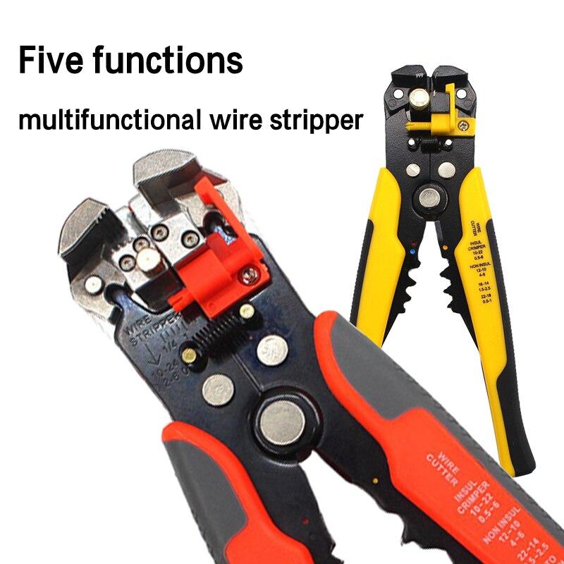 Cinq fonctions multifonctionnel dénudeur de fil HS-D1 virole de fil outil de sertissage embout de câble