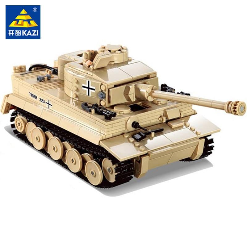 995Pcs German King Tiger Tank Model Building Blocks Sets Military Technic WW2  Army Soldiers DIY Brinquedos Bricks Kids Toys