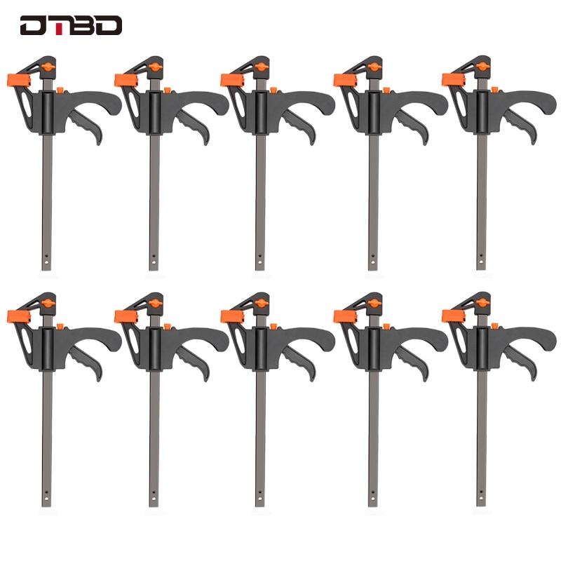 4 pulgadas 2/3/4/5 / 10pcs carpintería F abrazadera clip set duro liberación rápida de trinquete DIY, herramienta de mano de carpintería