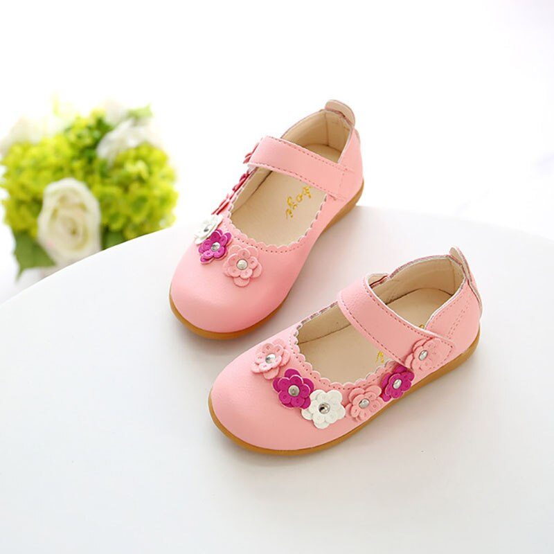 Soft Baby Girls Shoes Leather Infant Cute Toddler Child Kids Flower Spring Princess