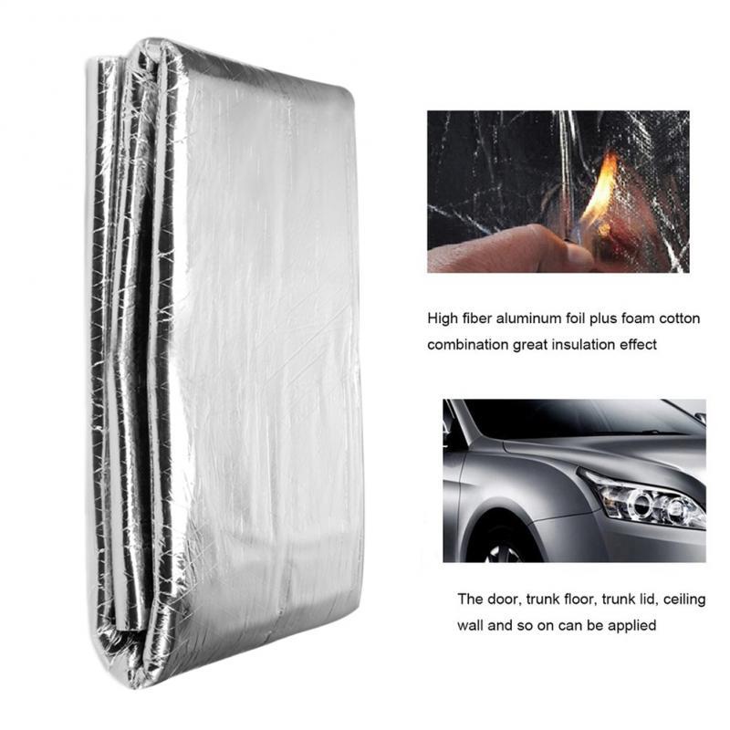 Silenciador de fibra de aluminio grueso de celda cerrada de algodón con aislamiento acústico antiruido para coche