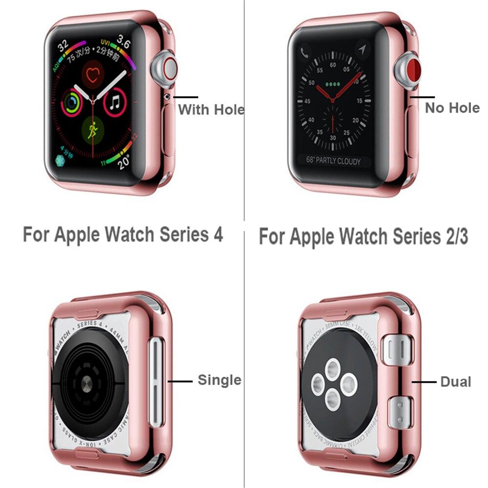 Тонкий ТПУ чехол для часов Apple Watch Series 6 Se чехол 40 мм 44 мм чехол Защитный чехол для IWatch 5 4 3 2 42 мм 38 мм