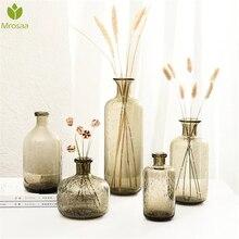 Vase en verre à bulles chaudes   Décoration nordique, Vases à fleurs de maison, récipients en verre Terrarium, bouteille de mariage, Jarrones décoratifs Moderno