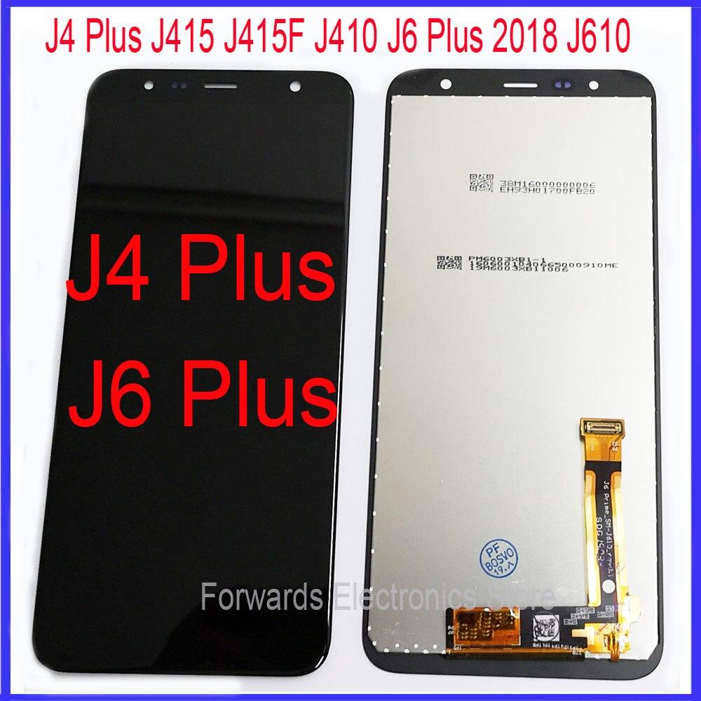 Для samsung J4 Plus J415 J410 J6 Plus J610 ЖК-дисплей с сенсорным дигитайзером в сборе J415F J415G J415M J415FN