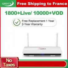 Offre spéciale Leadcool IPTV 1 an abonnement QHDTV Europe chaînes arabes lecteur multimédia intelligent Android 8.1 TV Box