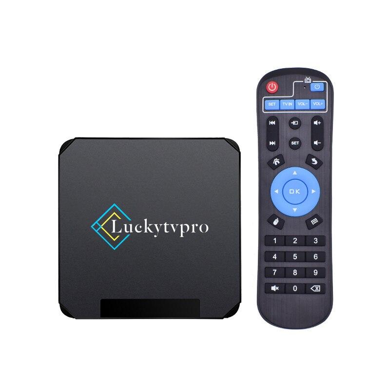 جديد Luckytvpro أندرويد 10.0 صندوق التلفزيون 4G 32G Allwinner H616 الذكية iptv m3u خط مجموعة صندوق فوقي السفينة من الإيطالية