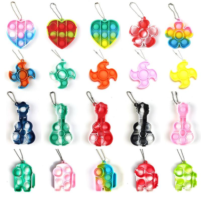 AliExpress - Mini Simple Dimple Fidget Toys Sensory Rainbow Push Bubble Anti Stress Reliever Toys for Adult Kids Antistress Toy Fidjet Gift