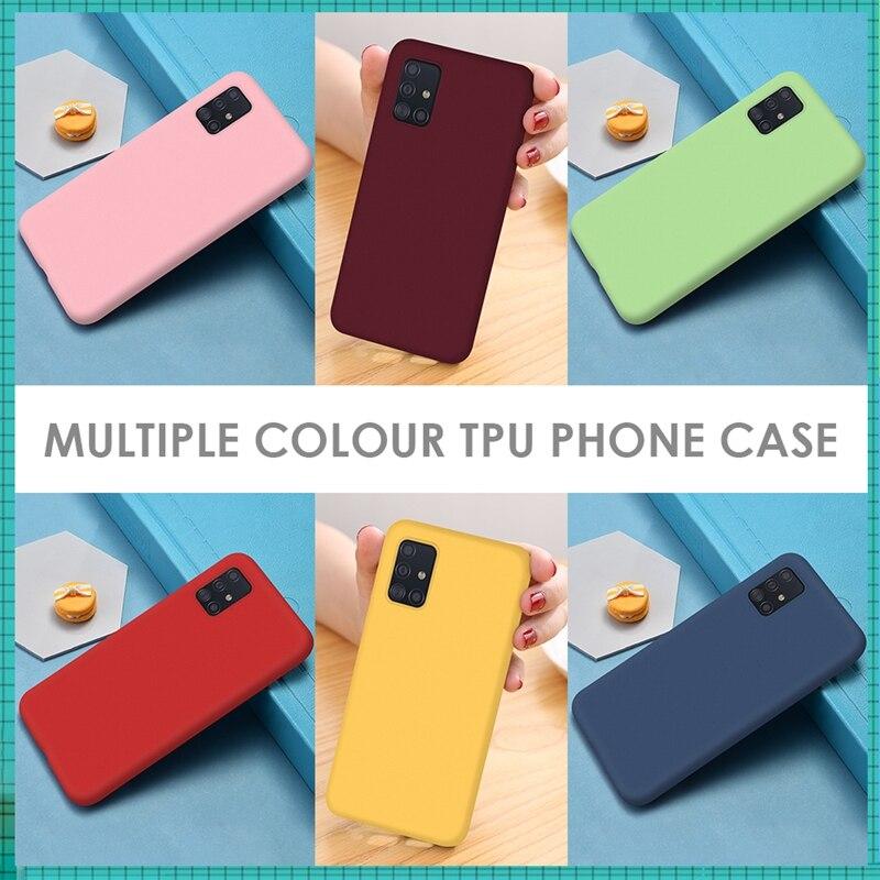 Cor dos doces capa completa para samsung galaxy a30 a20 a40 a10 caso capa silicone macio tpu capa de telefone para m20 30 10 40