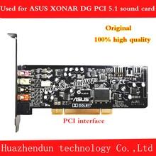 Original ASUS Xonar DG sound card PCI interface 5.1 channel with fiber interface