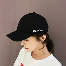 Hat Female Summer Casual Soft Top Baseball Fashion Letter Embroidery Peaked Cap Male Outdoor Korean
