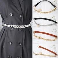 temperament elastic silver chain belt ladies dress cummerbunds exquisite more style thin belt stylish beautiful smooth waistband