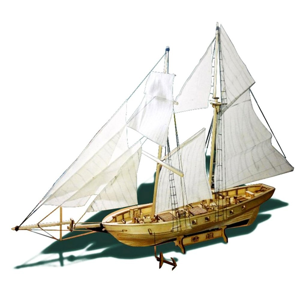 Diy veleros de madera modelo de montaje de veleros de juguete