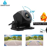 fisheye lens auto car rear view camera night vision wide angle waterproof backup camera with control wire around forward looking