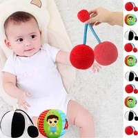 baby plush soft white black red colorful visual balls with rattle hand grasp bells for 0 12 months infant newborn toddlers kids