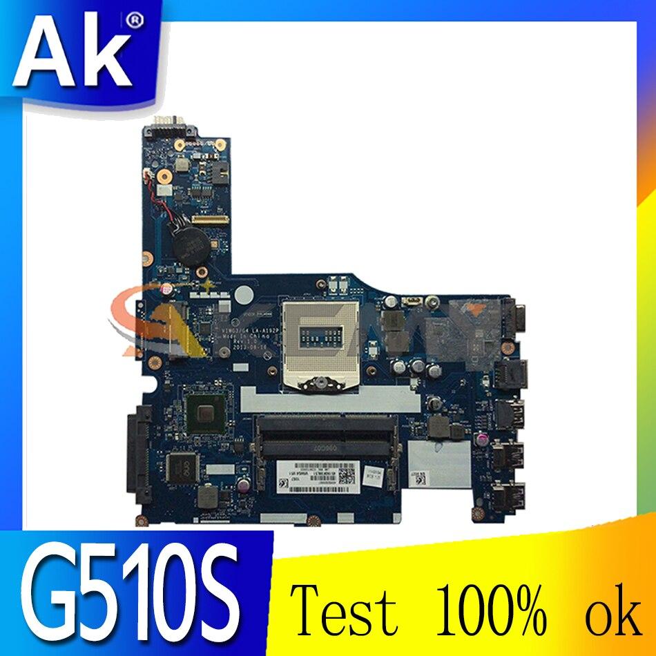 Akemy لينوفو G510S VIWG3/G4 LA-A192P اللوحة الأم للكمبيوتر المحمول PGA947 DDR3 100% اختبار العمل