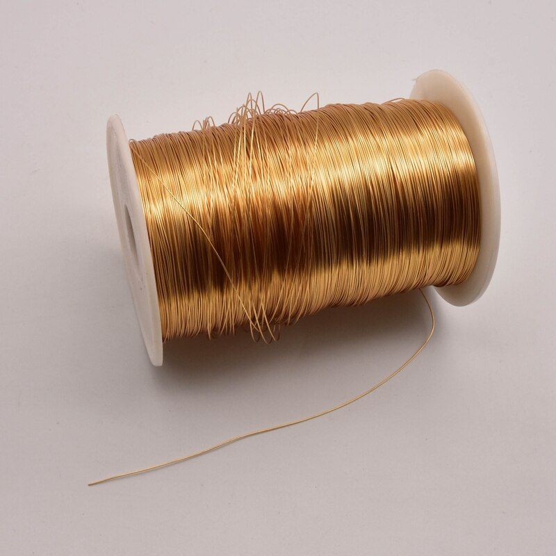 1 roll 0.3mm 0.4mm 0.6mm 0.8mm Copper Plated Kc Gold Wholesale Wire Accessories Making Fine Jewelry Connecting Line JA0326