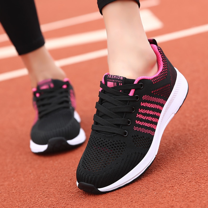 Women Ladies Summer Fashion Breathable Mesh Hollow Basket Vulcanize Flats Lace Up Tenis Casual Running Gym Female Sneakers Shoes fashion women sneakers casual shoes female mesh summer shoes breathable trainers ladies basket femme tenis feminino