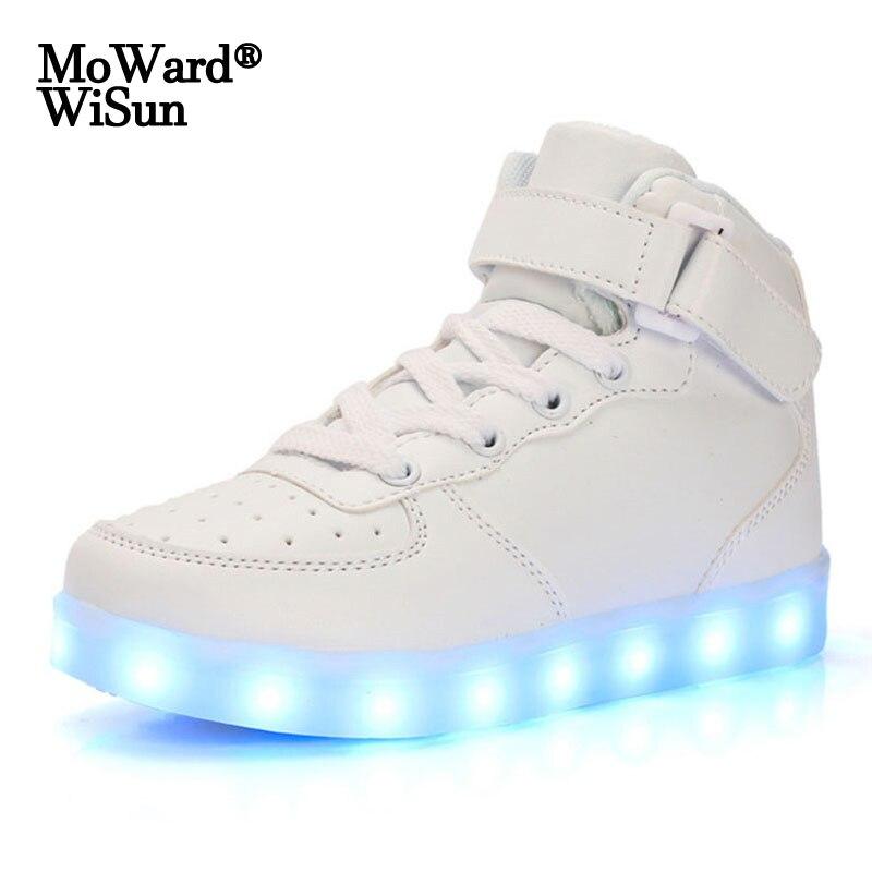 أحذية رياضية رجالية ونسائية ، أحذية Led مضيئة بنعل مضيء ، أحذية رياضية بإضاءة Led ، مقاس 35-44