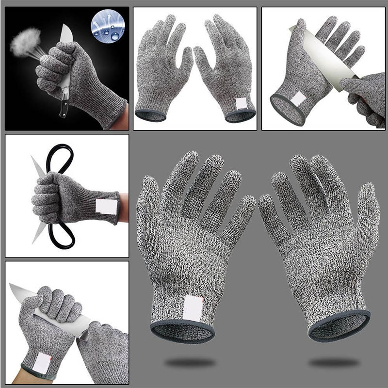 Stainless Steel Wire Butcher Cut-Resistant Glove Kitchen Gadgets Anti-cut Gloves Cut Proof Stab Resistant 1 Pair Multifunction enlarge