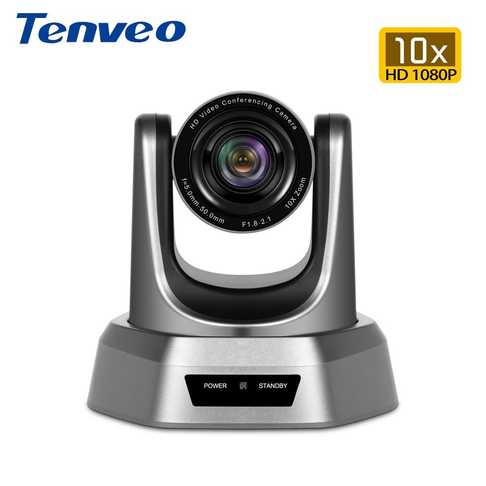 Tenveo NV10U 10x Zoom Full HD 1080p H.264 cámara de vídeo USB macho cámara PTZ Cam HD webcam para Tele medicina empresa Skype